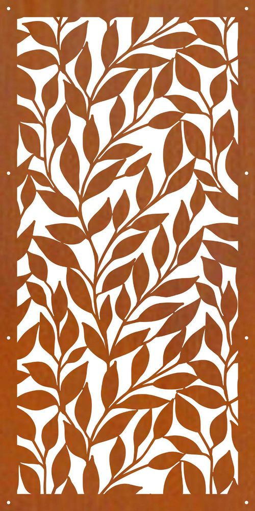 DECORATIVE METAL SCREENS CORTEN LASER CUT GARDEN SCREEN - D13  600 X 1200 1.6mm