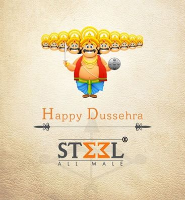 May you win every single battle of the truth over evil, in your life!  Steel All Male wishes you all a happy and joyous Dussehra :)  #HappyDussehra #Dussehra2016 #VijayaDashami #DurgaPuja #Greetings #BestWishes #Blessing #Festival #India #Celebration #LordRama #Truth #Victory #SteelAllMale #Ahmedabad
