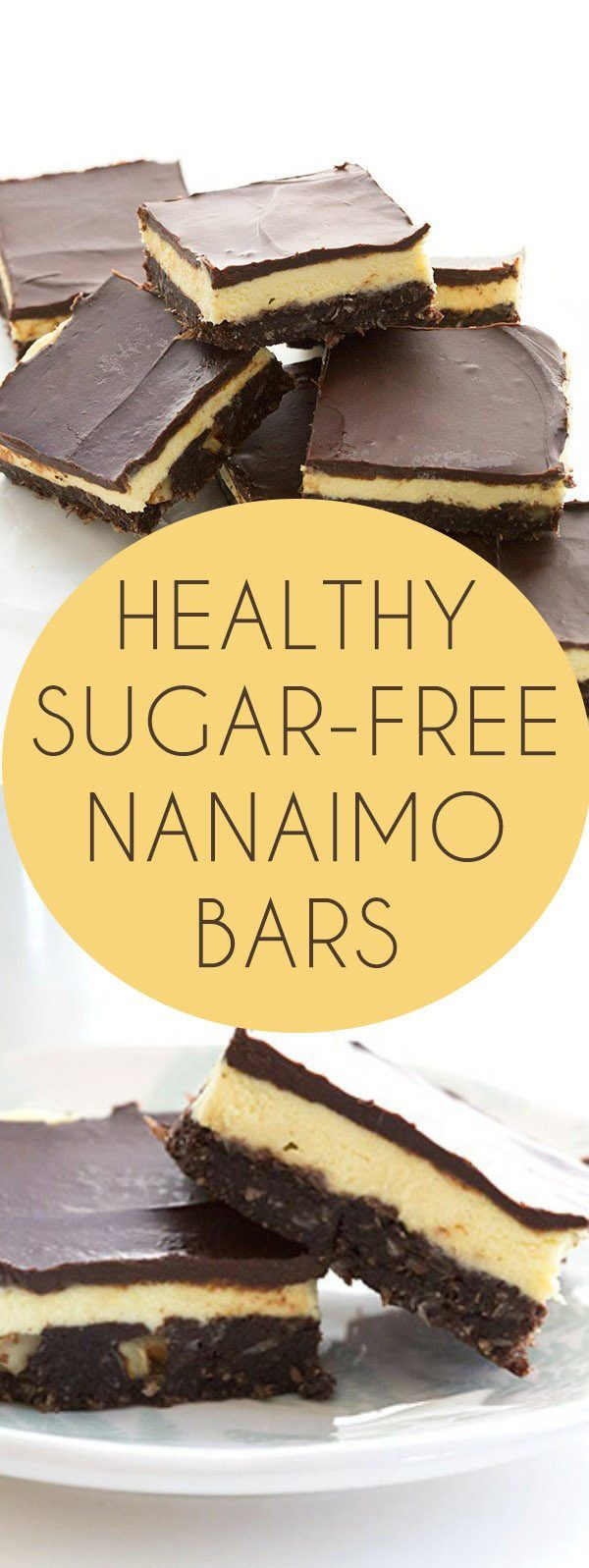 New and improved low carb Nanaimo Bar recipe. Sugar-free, no artificial sweeteners, grain-free, trim healthy mama via @dreamaboutfood