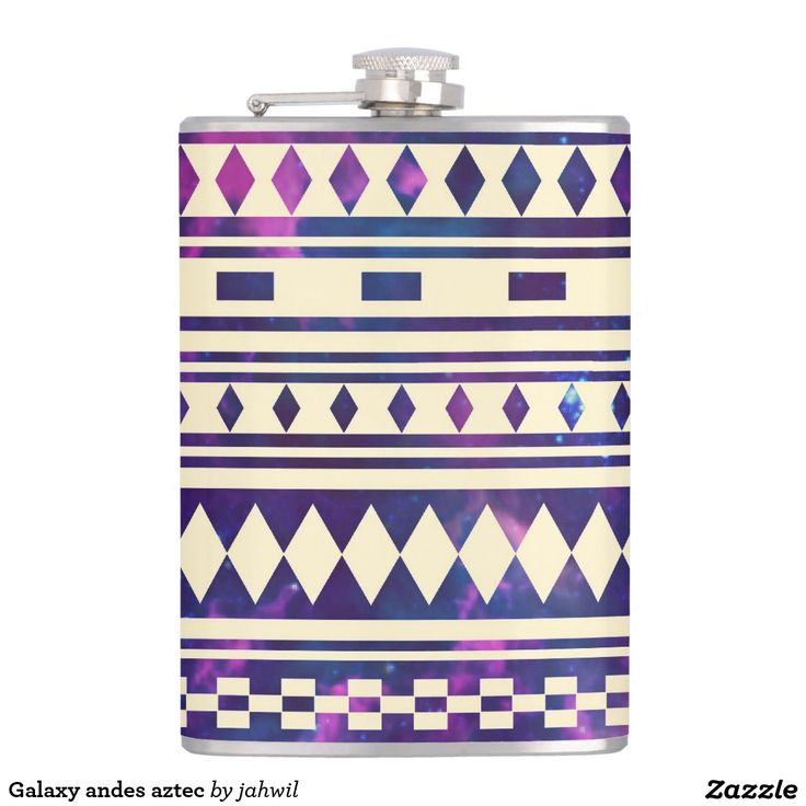 #space #nebula #aztec #andes pattern #flask #zazzle Galaxy andes aztec flask