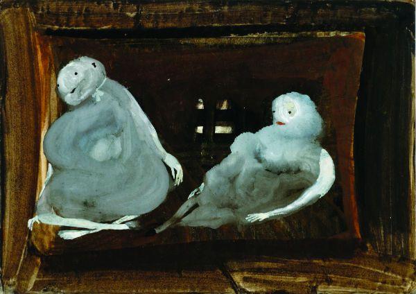 Eugen Gabritschevsky, Untitled, 1949, gouache on paper, 21 x 295 cm. Collection…
