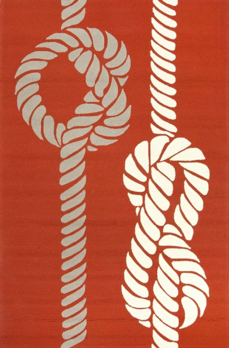 Indoor-Outdoor Conversational Pattern Orange/Ivory Polypropylene Area Rug in Wind Chime(14-4002) - 2ft x 3ft by Jaipur Rugs