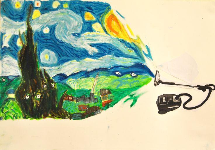 Parafras År 8 - efter Von Gogh - Starry Night