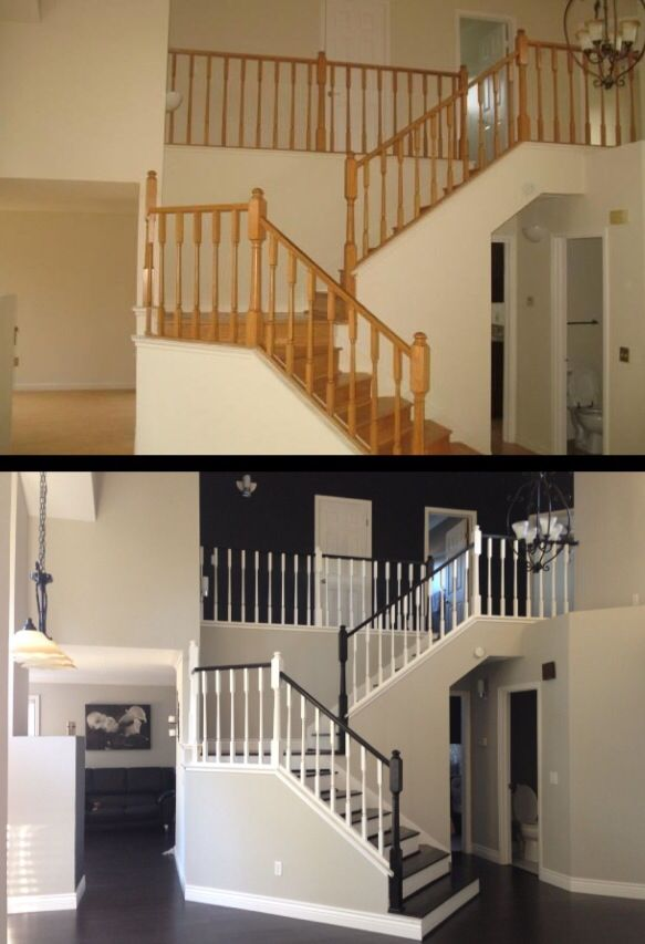 Paint does wonders!  27 Painted Staircase Ideas Which Make Your Stairs Look New  Tags: painted staircase, painted plywood stairs, painted stairs black, painted stairs ideas pictures