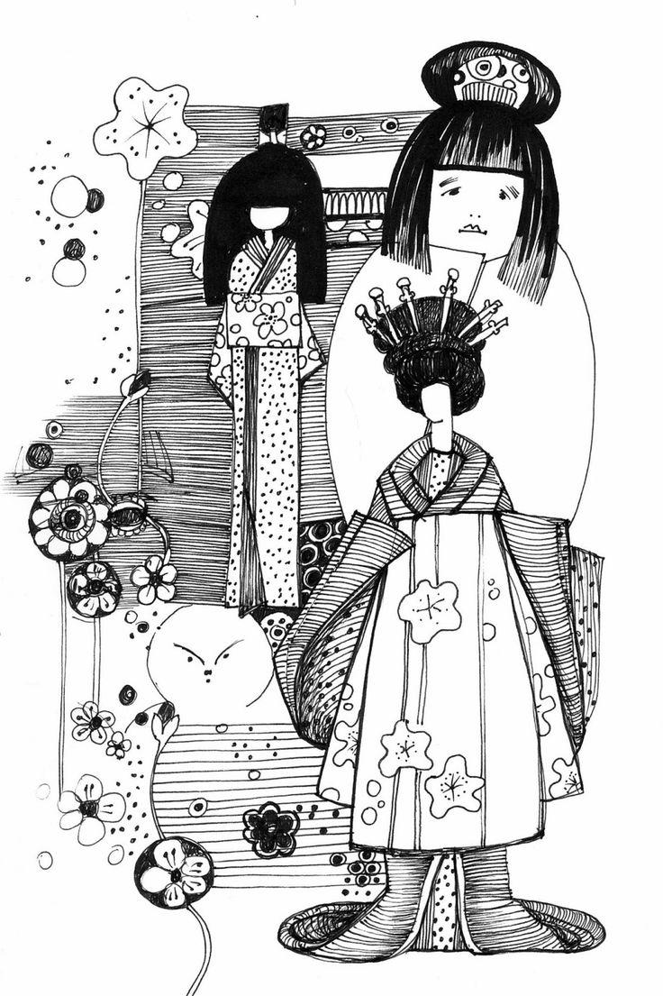 repozytornia: lalki japońskie. wystawa w muzeum sztuki i techniki japońskiej Manggha.