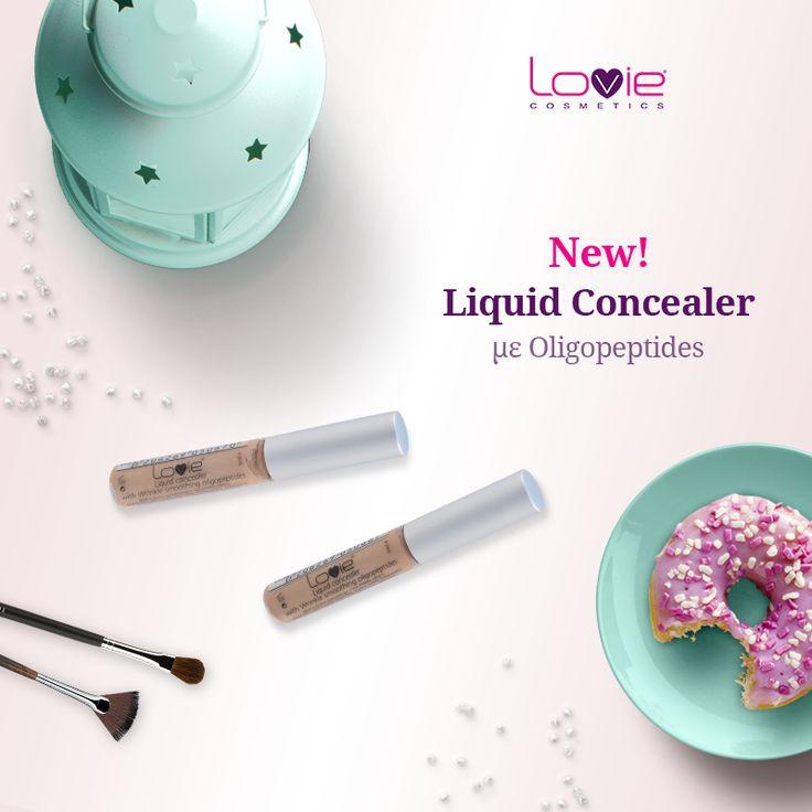 Άλλο ένα νέο προϊόν προστέθηκε στη συλλογή καλλυντικών της Lovie! http://www.lovie.gr/konsiler-lovie/liquid-concealer #lovie #cosmetics