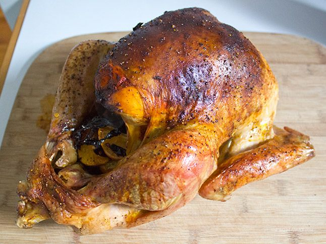 Achiote Butter Basted Turkey with Ancho Chile Gravy
