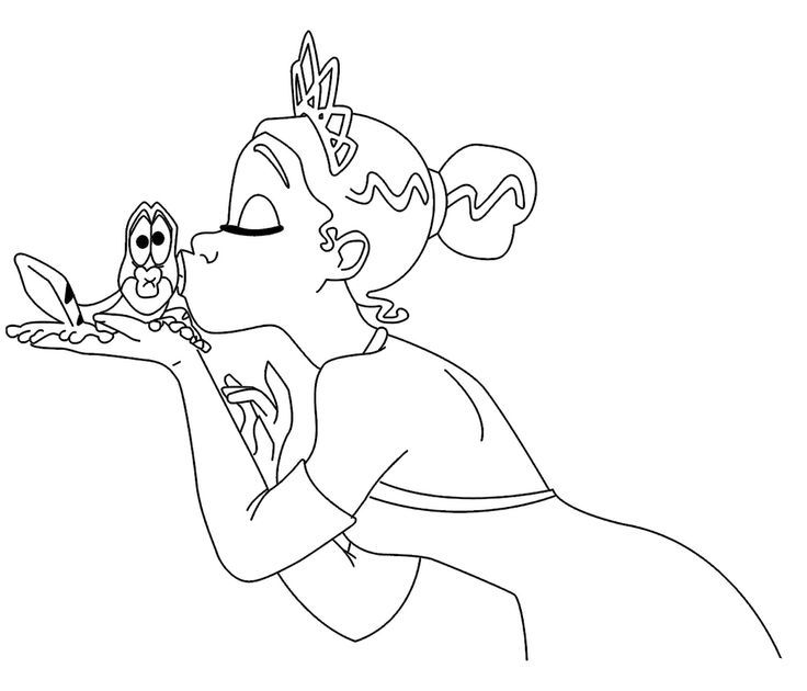 coloring princess tiana kissing a great frog coloring pages r on top princess the frog new coloring pages princess tiana kissing a great frog coloring pages - Tiana Princess And The Frog Coloring Pages