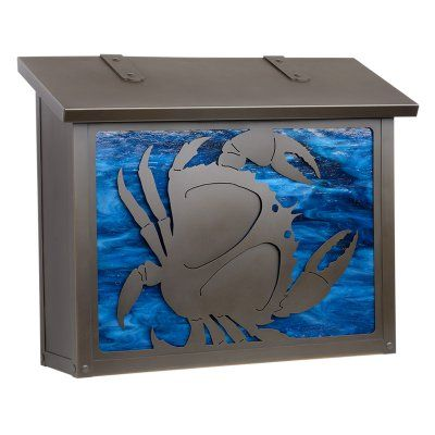 Americas Finest Lighting Crab Large Mailbox Gold Iridescent - AF-1703-WB-GI