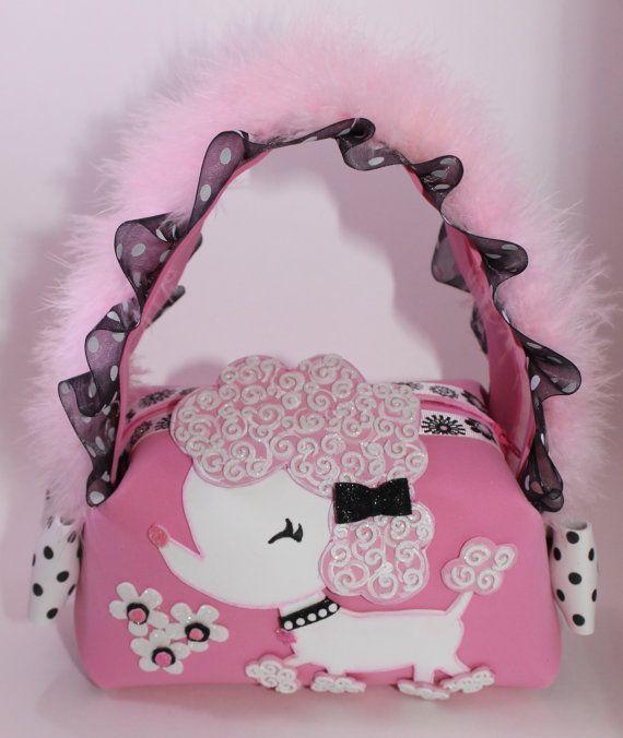 Sweet Poodle Little Girl Purse by SweetBellaLuna on Etsy, $18.00