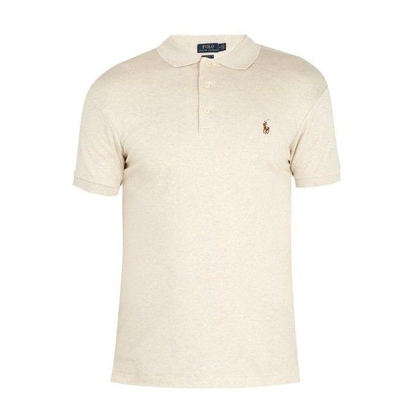 Polo Ralph Lauren Logo-embroidered stretch-cotton piqué polo shirt ($85) ❤ liked on Polyvore featuring men's fashion, men's clothing, men's shirts, men's polos, grey, mens polo shirts, mens slim fit polo shirts, mens slim shirts, men's spread collar dress shirts and polo ralph lauren mens shirts