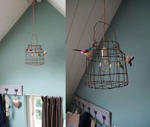 62 best lampen images on pinterest garlands home ideas and lampshades or a bird cage for a lampshade greentooth Gallery