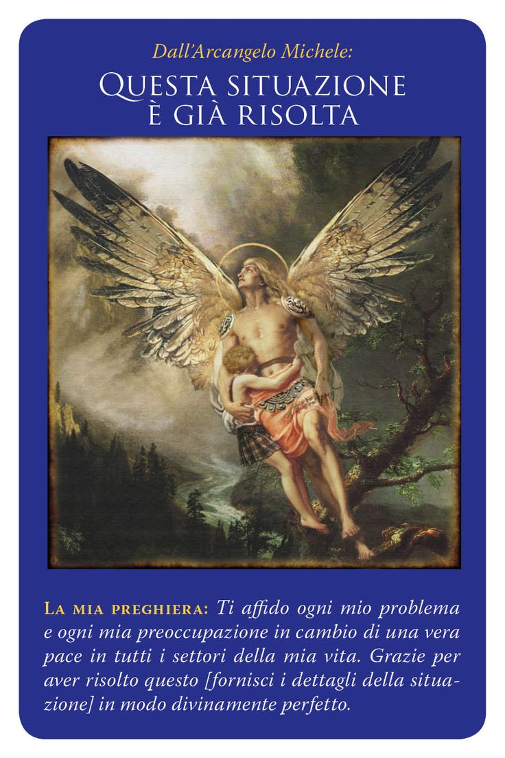 carte arcangelo michele - questa situazione è gia risolta