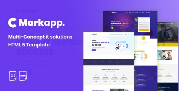 Markapp Html5 Modern Multipurpose Business And Corporate Template Stylelib In 2020 Templates Html5 Start Up Business
