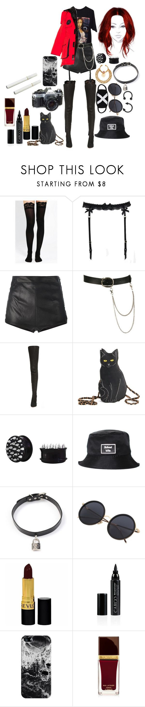 """""""Lucky Girl"""" by cherrysick ❤ liked on Polyvore featuring Reger by Janet Reger, La Perla, Wet Seal, Maison Margiela, Alice + Olivia, VFiles, Hyein Seo, American Eagle Outfitters, Revlon and CARGO"""