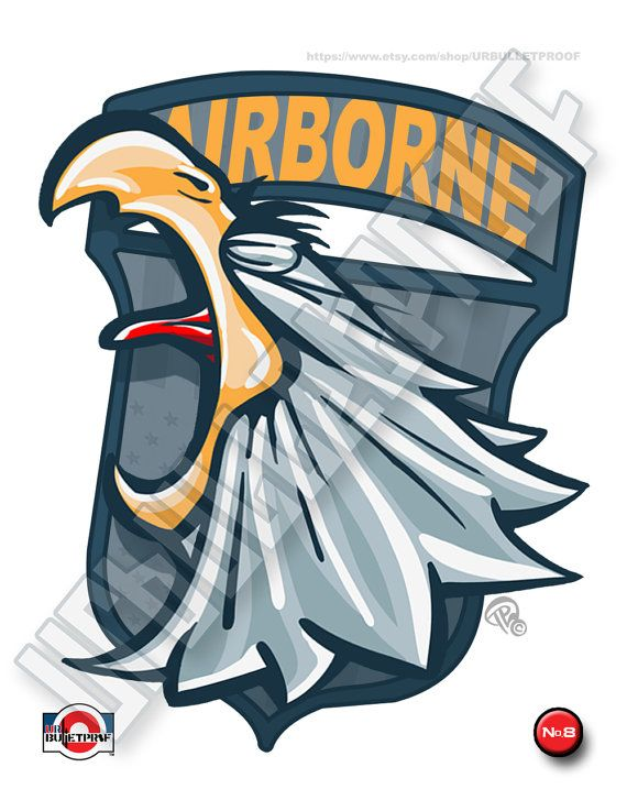 101st_bird_charlie 8een Amerikaanse leger airborne cartoon