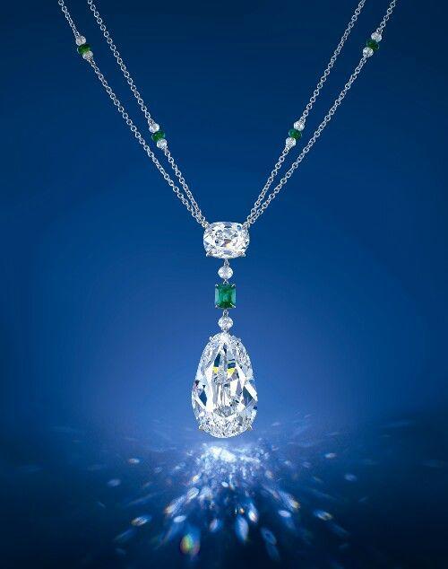 """The Eye of Golcanda"" 40.5 carat pear shape diamond."
