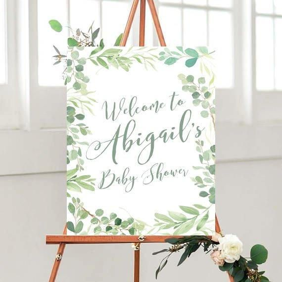 Printable Baby Shower Sign Baby Shower Welcome Sign Custom