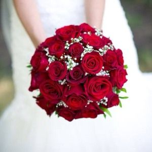 Passion Red Round Bouquet