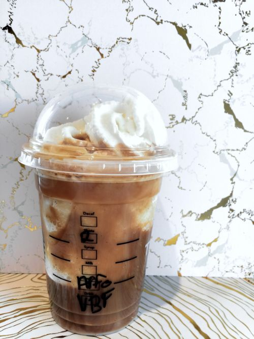 Affogato style frappuccino on the Black and White edition Marbled ...