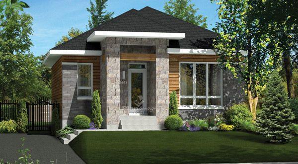 planimage cette maison de plain pied de style urbain mesure 28 pieds de largeur sur 36 pieds. Black Bedroom Furniture Sets. Home Design Ideas