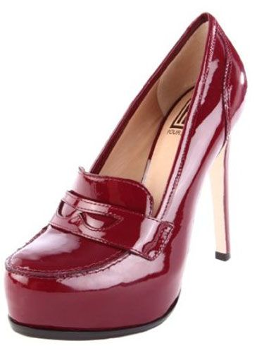 Whether they have tassels or penny slots, we're absolutely crazy for high-heeled loafers right now. They're schoolgirl-sexy in the best possible way.