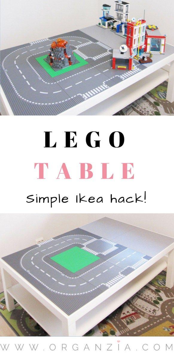 DIY : Make your own Lego table, simple Ikea hack #DIY #lego #legotable #Ikea #Ikeahack