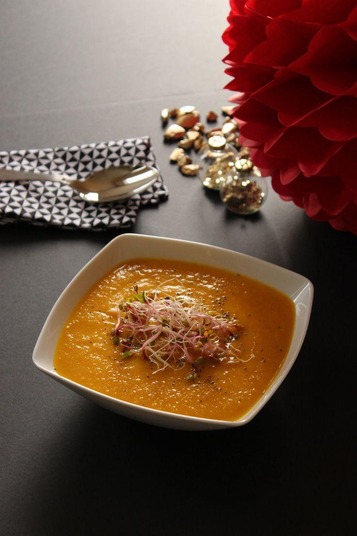 Entrée de Noël : Velouté de lentilles corail, carottes et lait de coco (vegan) http://www.friendly-beauty.com