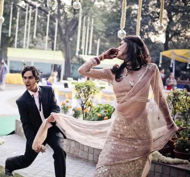 Kunal Nayyar (Big Bang Theory) and Neha Kapoor having fun at their marriage reception