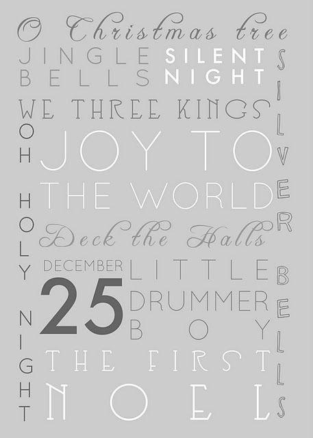 Printable: Ideas, Silver Christmas, Christmas Printables, Free Christmas, Christmas Decor, Free Printable, Christmas Songs, Christmas Carol, Christmas Subway Art