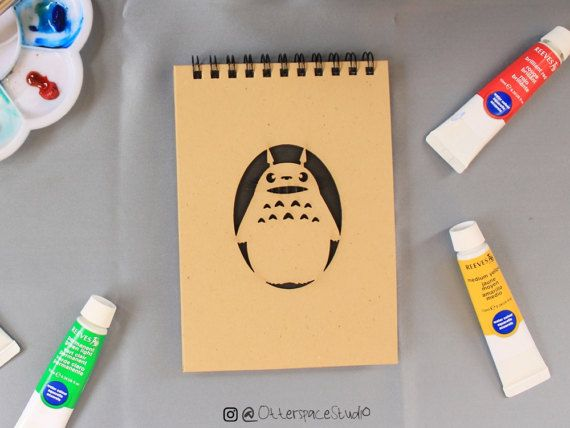 Studio Ghibli Theme Notebook  Smile Totoro by OtterspaceStudio