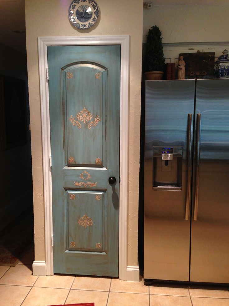 My Pantry Door That I Painted And Stenciled