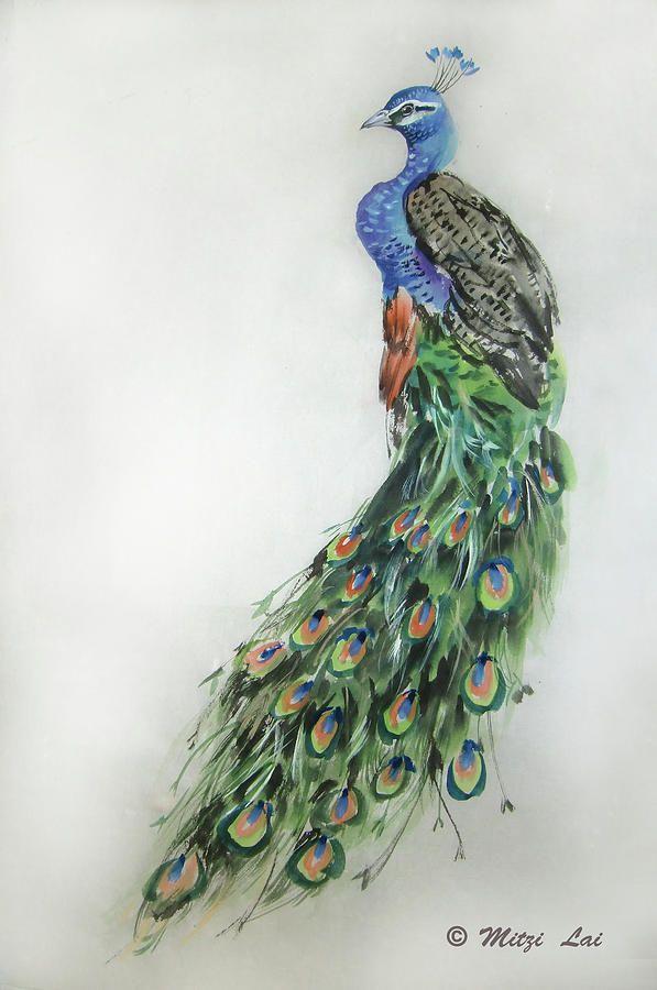 Royal Peacock Painting  - Royal Peacock Fine Art Print