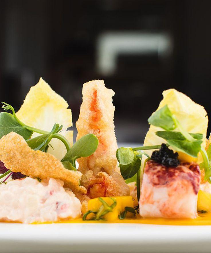 This lobster salad recipe by Mark Jordan pairs the luxurious shellfish with tropical mango and aromatic basil. Crispy tempura claws finish the dish off beautifully, as does Jordan's glorious take on potato salad.