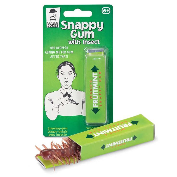 Snappy Gum with Insect - a classic prank given a creepy crawly twist!