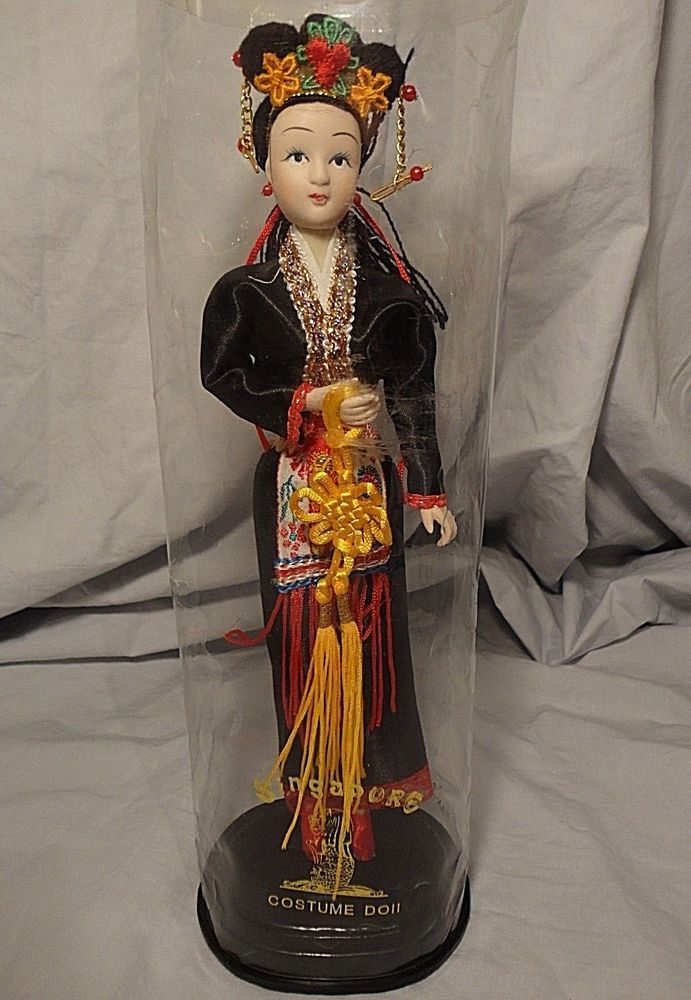 Vintage Singapore Costume Doll 10-inch Tall Oriental Asian #MPL #Dolls