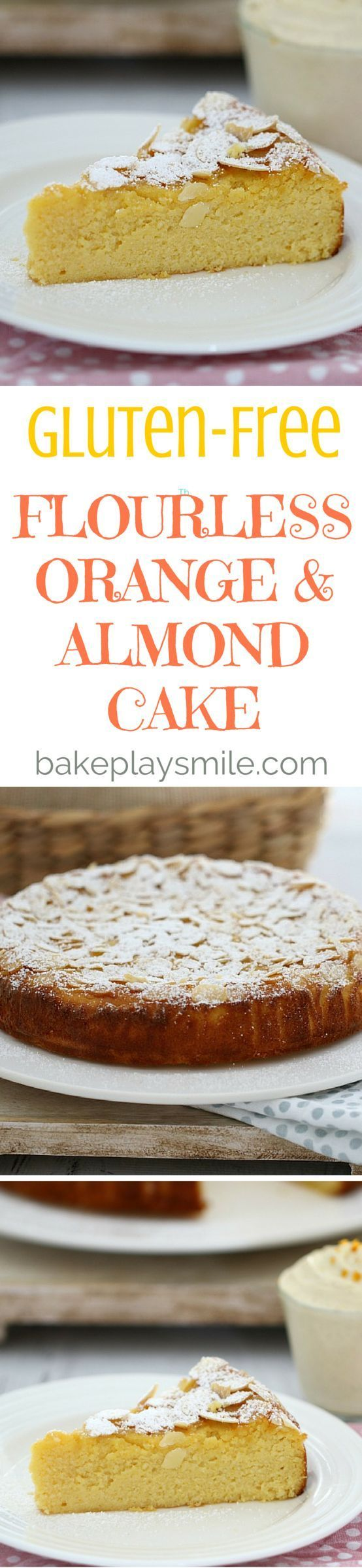 Perfectly moist and delicious, this Gluten-Free Flourless Orange and Almond Cake ticks all the boxes. Serve with vanilla bean infused double cream for an indulgent treat. #glutenfree #flourless #orange #almond #cake #easy #baking #recipe #conventional #th