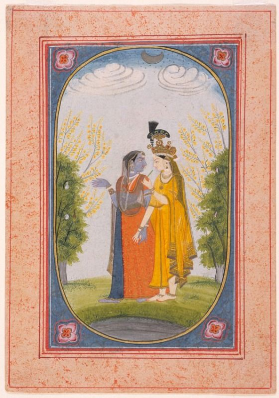 Radha and Krishna Dressed in Each Other's Clothes | LACMA Collections
