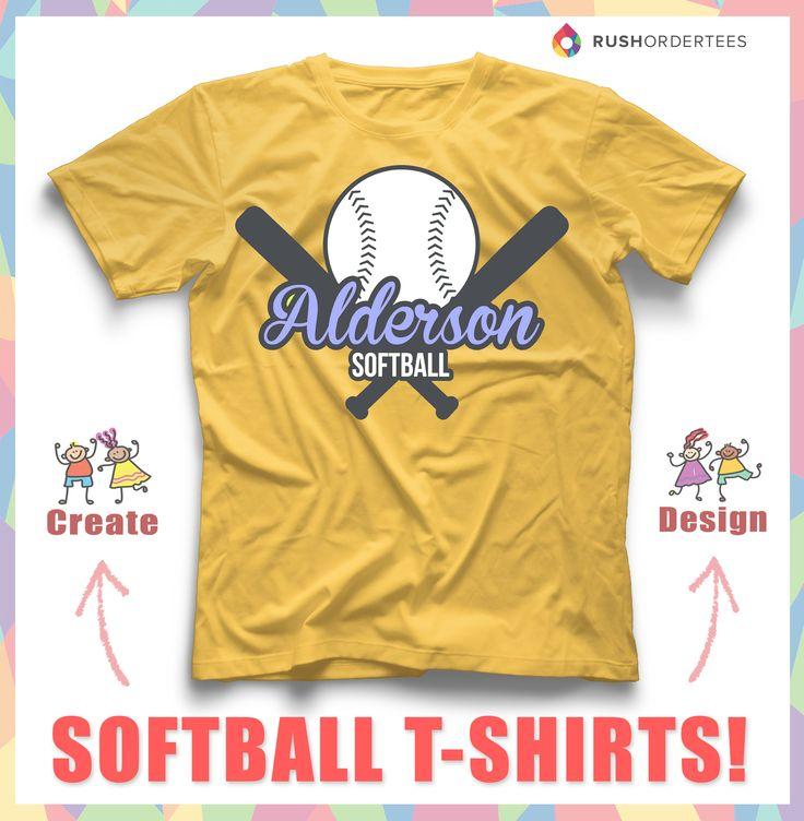 Softball Custom T Shirt Design Idea! Create Awesome Softball Custom Shirts  For Your Team