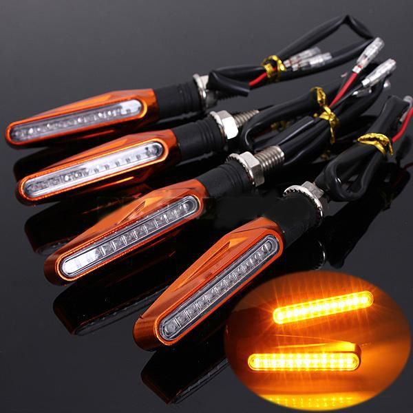 For Aprilia Caponord 1200 Rally Dorsoduro 1200 Rsv Mille Rmotorcycle Universal 12 Led Turn Signal Light Indicators Amber Light Amber Lights Led Turn Ons