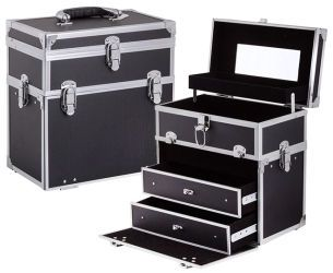 Travel Cosmetic Beauty Case - Black