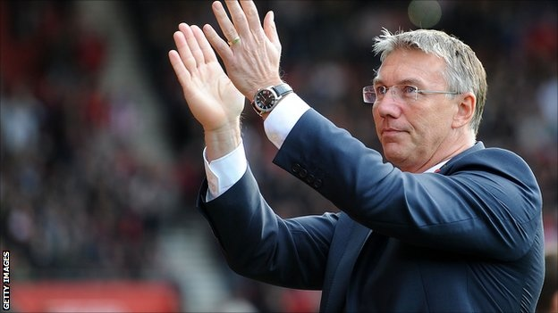 Southampton manager Nigel Adkins remained defiant after seeing his side surrender their lead against Swansea.