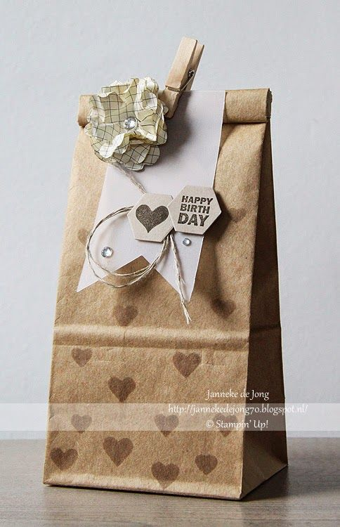 Stampin' Up! Demonstratrice Janneke : Stampin' Up! - Happy Birthday Gift bag