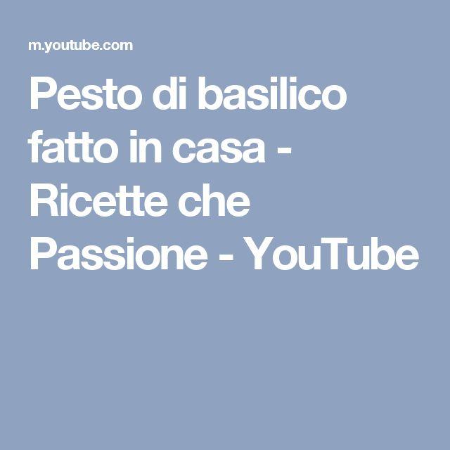 Pesto di basilico fatto in casa - Ricette che Passione - YouTube