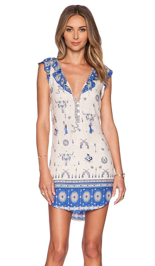 Spell & The Gypsy Collective VESTIDO SEM MANGA COYOTE em Azul Real | REVOLVE