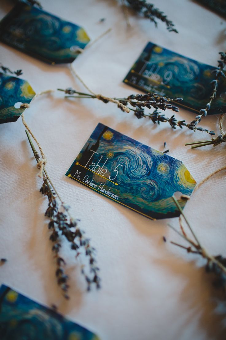 Starry Night escort cards / photo: stephaniew.com