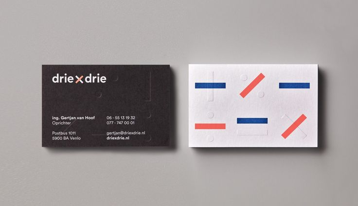 Brand identity and business cards for driexdrie by George & Harrison.