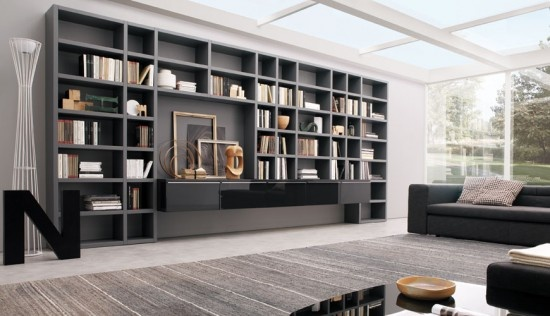 full wall bookcase, skylight | For the Home | Pinterest