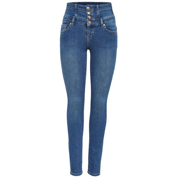CORAL CORSAGE SKINNY FIT JEANS ONLY ❤ liked on Polyvore featuring jeans, stretch blue jeans, coral jeans, stretch skinny jeans, coral skinny jeans and zipper skinny jeans