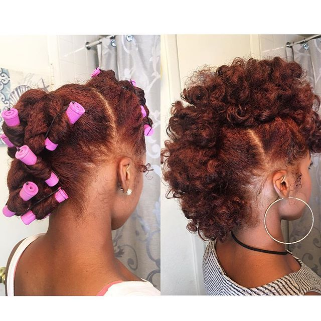 #Frohawk pin-up! 3 Separate sections (Front/middle/back) 3-4 twist in each section (rods optional) Tag me if you try! #KishMyKurls #NaturalHairStyles #ProtectiveStyles #PinUp